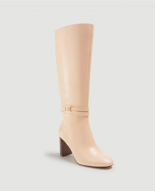 Ann Taylor Isabella Leather Buckle Heeled Boot
