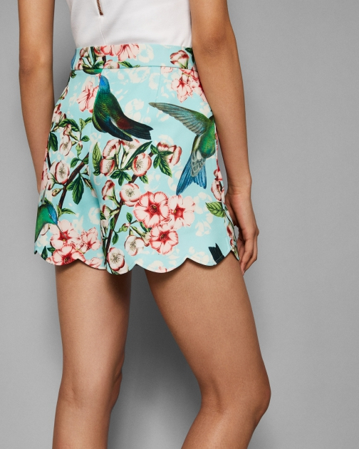 Ted Baker Nectar Scalloped Hem Short