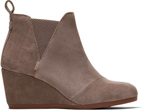 Toms Taupe Gray Suede Women's Kelsey Ankle Boot