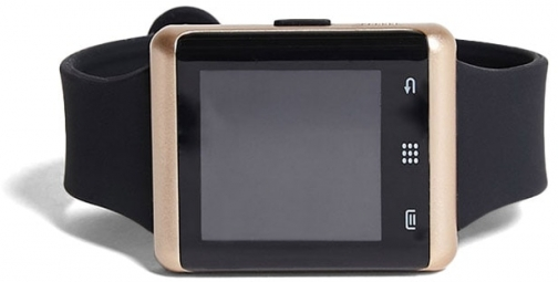21 Men Rose-Tone ITouch Pulse Smart At Forever 21 , Black/gold Watch