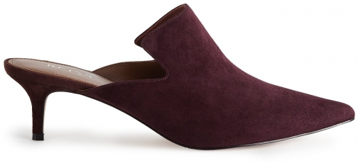 Reiss Astral - Suede Berry, Womens, Size 5 Mules
