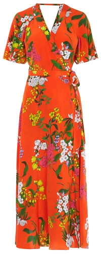 Karen Millen Floral Silk Midi Dress