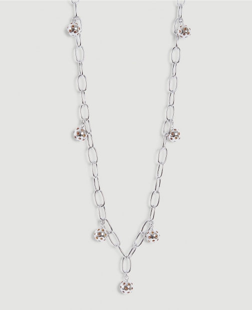 Ann Taylor Jeweled Ball Station Necklace