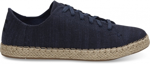 Toms TOMS Navy Slubby Linen Women's Lena Espadrille Sneakers Shoes - Size UK7.5 / US9.5 Espadrille