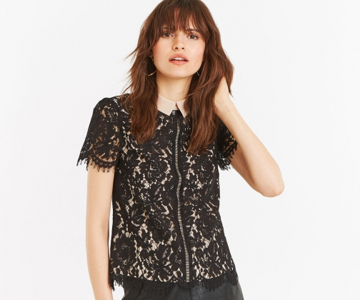 Oasis Lace Top Collar