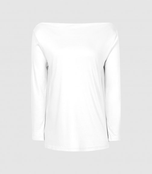 Reiss Marilyn - Straight Neck Top White, Womens, Size XS Shirt