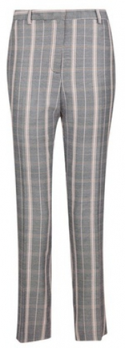 Dorothy Perkins Grey Checked Straight Leg Trousers Trouser