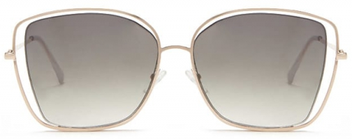 Forever21 Forever 21 Premium Cutout Square Gold/green Sunglasses