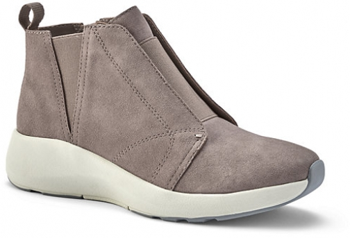 Lands' End Women's Lightweight Comfort Suede Leather Ankle Booties - Lands' End - Tan - 6 Boot