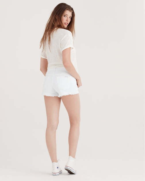7 For All Mankind Women's Cut Off Clean White Short