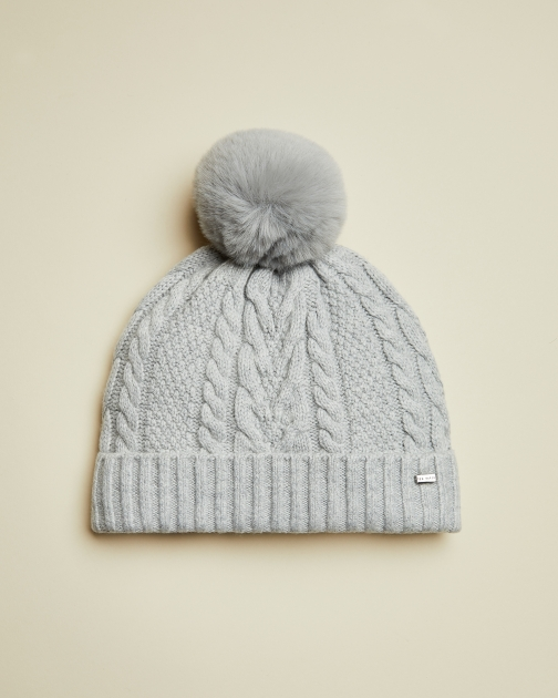 Ted Baker Cable Knit Pom Hat