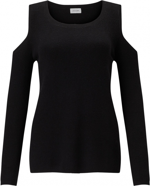 Jigsaw Open Shoulder Rib Jumper