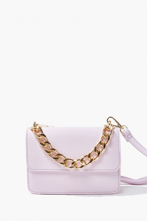 Forever21 Flap-Top At Forever 21 , Purple Crossbody Bag