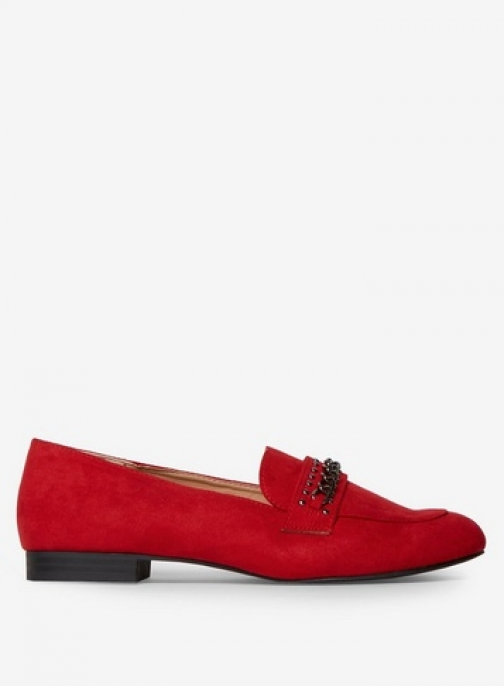 Dorothy Perkins Womens Wide Fit Red 'Laser' - Red, Red Loafer
