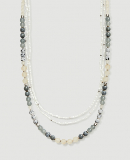 Ann Taylor Factory Beaded Layering Necklace
