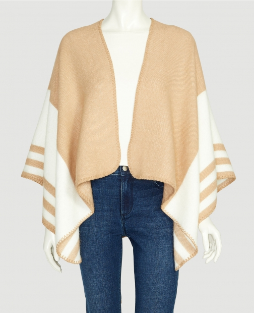 Ann Taylor Factory Side Stripe Open Poncho