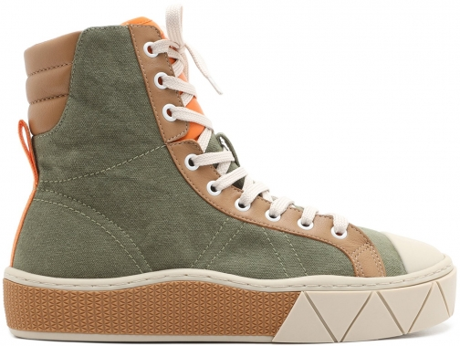 Schutz Shoes Kateleia Sneaker - 5 Aspen Green Canvas Trainer