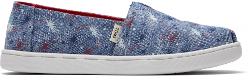 Toms Glow The Dark Fireworks Canvas Youth Classics Slip-On Shoes