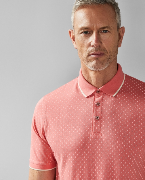 Ted Baker Geo Print Cotton Shirt Polo