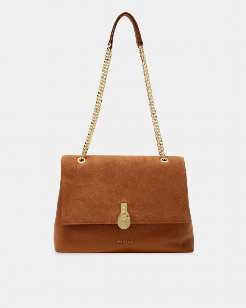 Ted Baker Suede Padlock Shoulder Bag