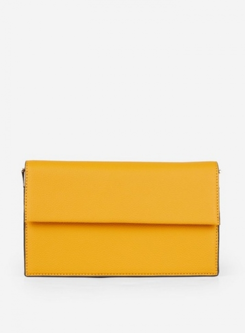 Dorothy Perkins Yellow Chain Detail Bag Clutch
