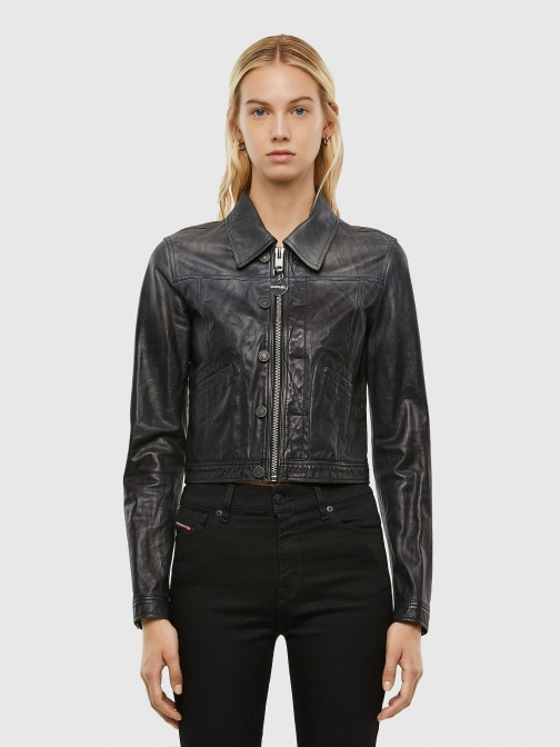 Diesel 0PAZY - Black - XXS Leather Jacket