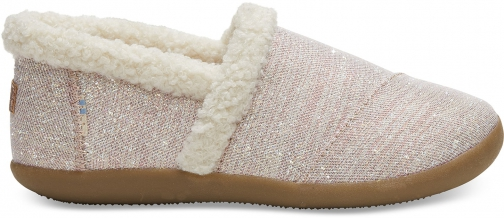 Toms Rose Cloud Glimmer Youth House Slippers