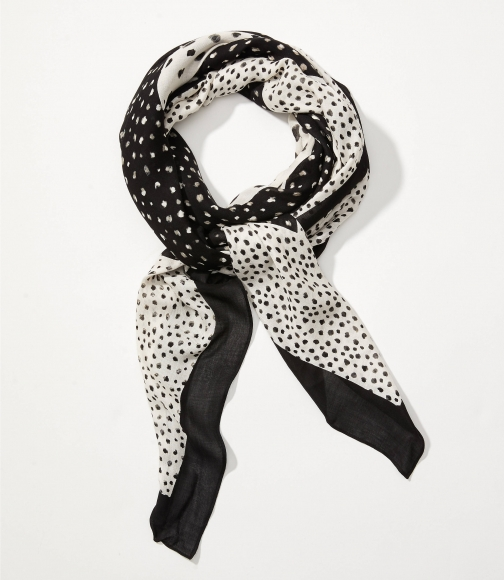 Loft Spotted Square Scarf