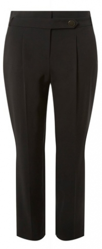 Dorothy Perkins Womens Black Button - Black, Black Tapered Trouser