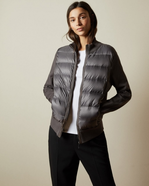 Ted Baker Padded Front Knit Jacket
