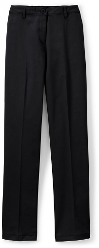 Lands' End Women's Straight Fit Plain 7 Day Pants - Lands' End - Black - 4 Chino