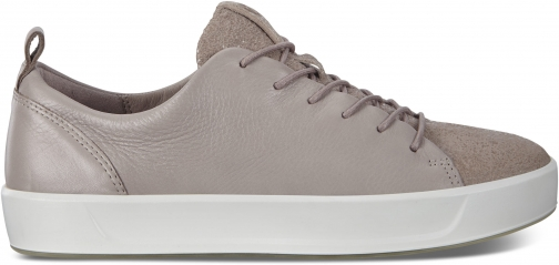 Ecco Womens Soft 8 Sneaker Size 4/4.5 Grey Rose Trainer