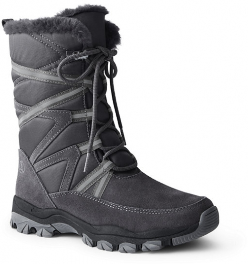 Lands' End Women's Expedition Insulated Winter - Lands' End - Gray - 6 Snow Boot