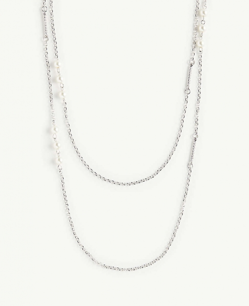 Ann Taylor Pearlized Twist Necklace