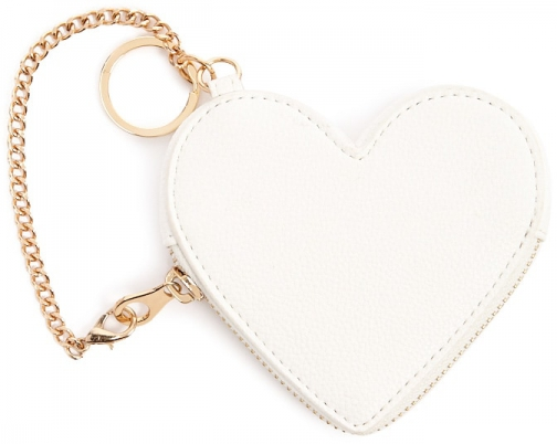 Forever21 Forever 21 Heart-Shaped Coin White Purse