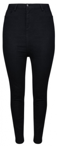 Dorothy Perkins Dp Curve Black High Waisted Skinny Fit Denim Disco Jeans