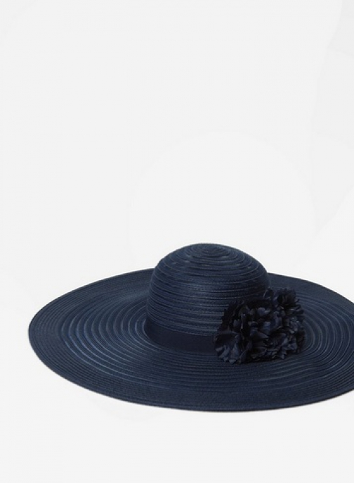 Dorothy Perkins Navy Occasion Floral Floppy Hat