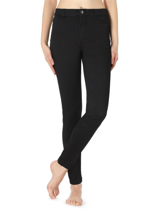 Calzedonia - Push-up And Soft Touch , M, Black, Women Jeans