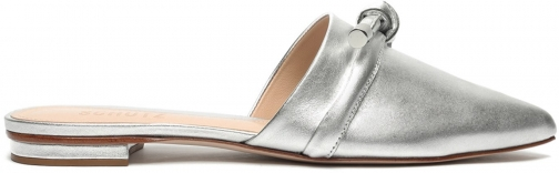 Schutz Shoes Lay Metallic Leather Mule - 5 Silver Metalic Napa Shoes