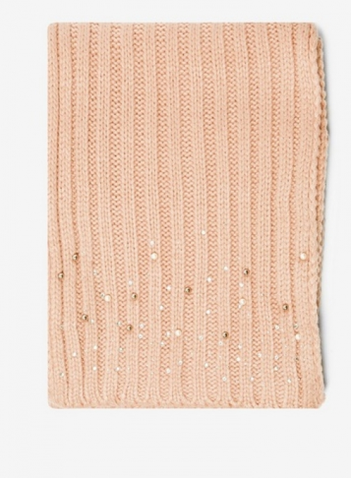 Dorothy Perkins Womens Pink Pearl Embellished - Pink, Pink Scarf