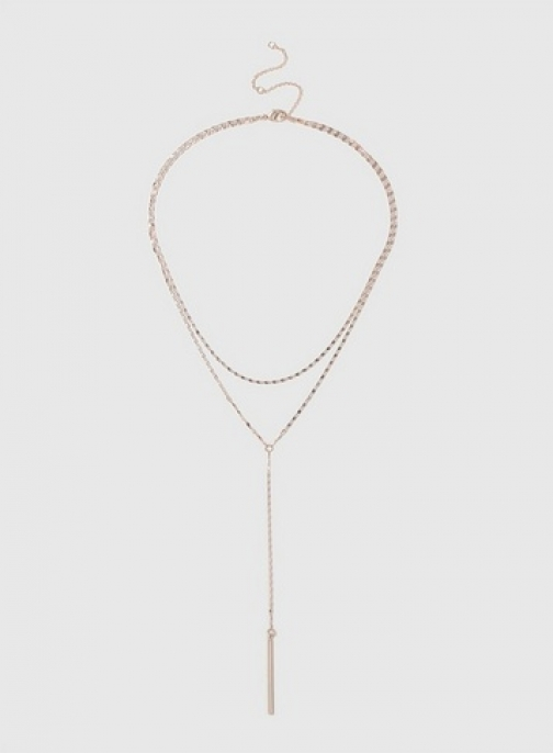 Dorothy Perkins Womens Fine Chain And Bar - Rose Gold, Rose Gold Necklace