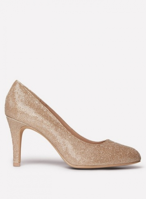 Dorothy Perkins Womens Wide Fit Gold 'Dallas' Court - Gold, Gold Shoes