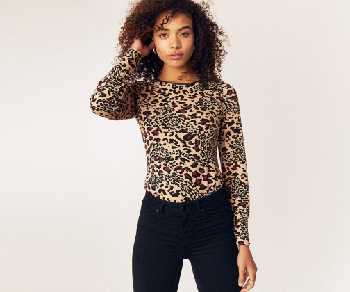 Oasis Animal Crew Neck Top