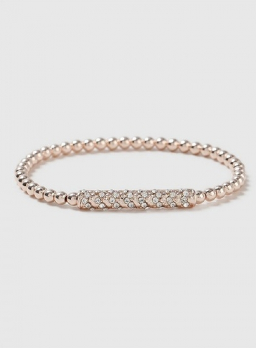 Dorothy Perkins Rose Gold Crystal Stretch Bracelet