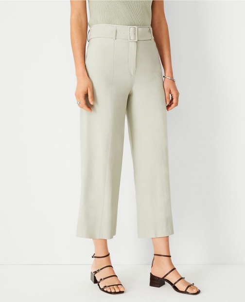 Ann Taylor The Belted Culotte Pant Trouser