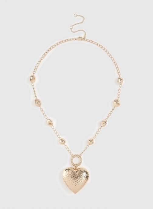 Dorothy Perkins Gold Statement Heart Necklace