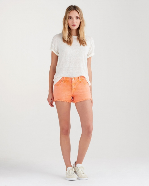 7 For All Mankind Women's Cut Off Creamsicle Short