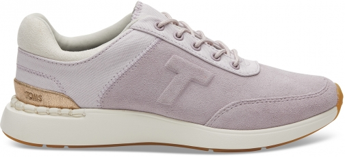 Toms Burnished Lilac Suede And Canvas Women's Arroyo Sneakers Shoes Trainer