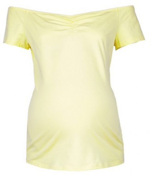 Dorothy Perkins Maternity Lemon Sweetheart Bardot Top