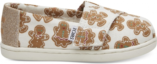 Toms Gingerbread Tiny TOMS Classics Slip-On Shoes